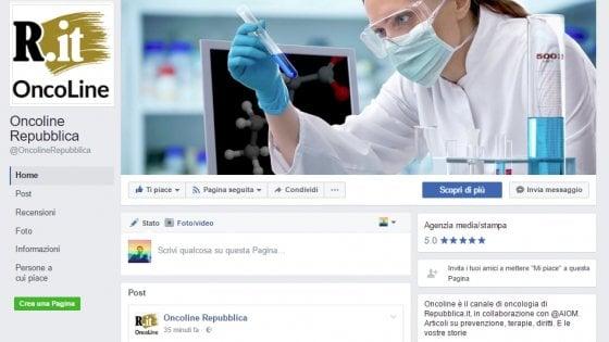Oncoline è social. La corretta informazione sui tumori viaggia anche su Facebook