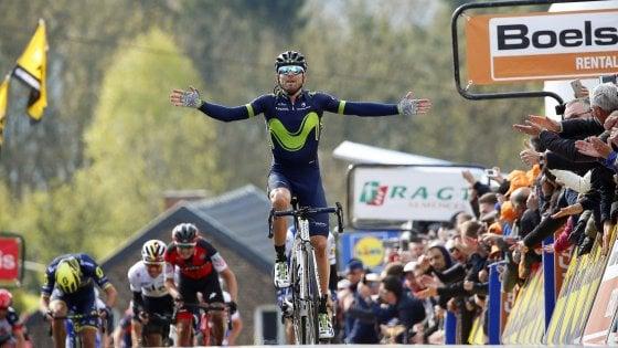 Ciclismo, Freccia Vallone: è sempre re Valverde, c'è il pokerissimo