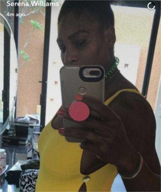 Serena Williams, incinta: l'annuncio su Snapchat è un giallo