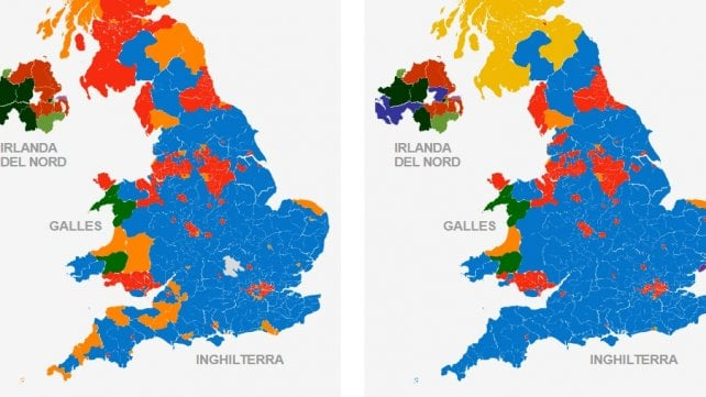 Tutti i risultati del voto e il confronto con il 2011