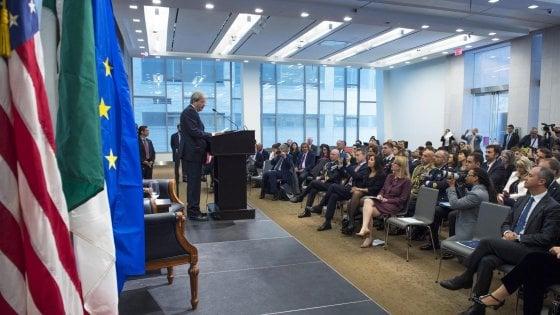 """Gentiloni: """"Partnership tra Italia e Stati Uniti non è solo un'opportunità, ma un dovere"""""""