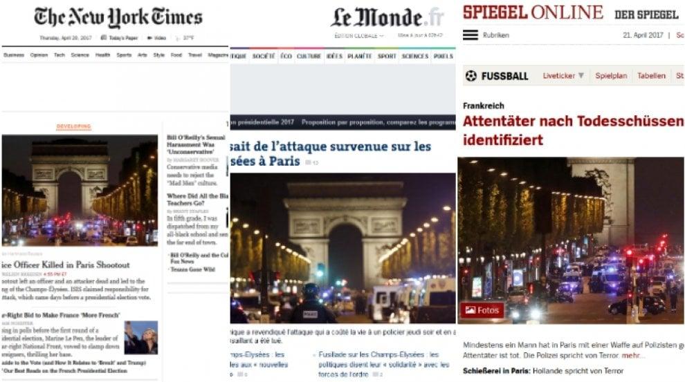 Attacco agli Champs-Élysées: la notizia sui siti stranieri