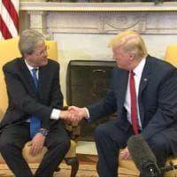 Trump-Gentiloni, l'incontro: l'impegno italiano e l'attacco di Parigi