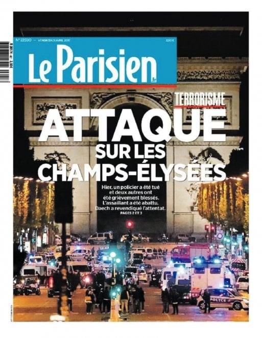 Attacco agli Champs-Élysées, la notizia sui quotidiani stranieri