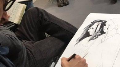 Dallo stand di Repubblica con FbLive si disegnano le storie in diretta   - Ospiti: Kuper e gli altri   di LUCA VALTORTA