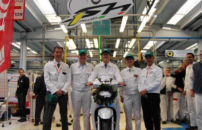 Un milione di scooter Honda fabbricati in Italia