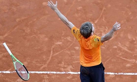 Tennis, Montecarlo: cade Djokovic, Goffin in semifinale contro Nadal