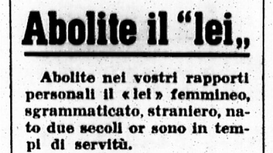 I test di Robinson/ La lingua italiana dal fascismo all'itanglese