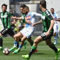 Sassuolo-Napoli, il film della partita