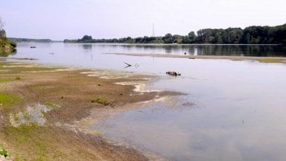 Allarme siccità: sul Po sembra di essere in estate