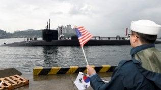 Il sottomarino Michigan accolto in Corea del Sud