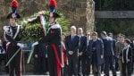 Gentiloni a Fosse Ardeatine con Zingaretti e Raggi