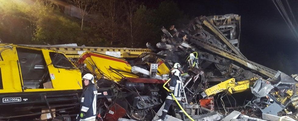 Ferrovia Brennero, treno carico di traversine piomba su cantiere: due operai morti, tre feriti