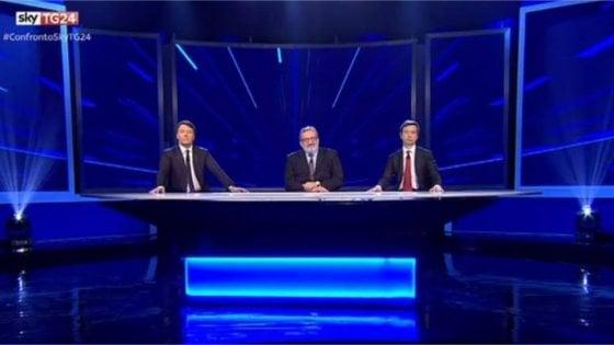 Primarie Pd, confronto tv: per Renzi ok un milione di affluenza. Scontro con Emiliano e Orlando su patrimoniale e larghe intese