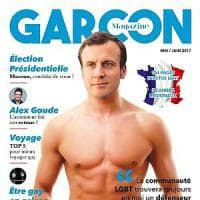 Francia, Macron fa coming out? Polemica per la copertina della rivista gay