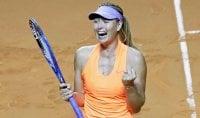 Sharapova in semifinale Budapest, bravo Lorenzi