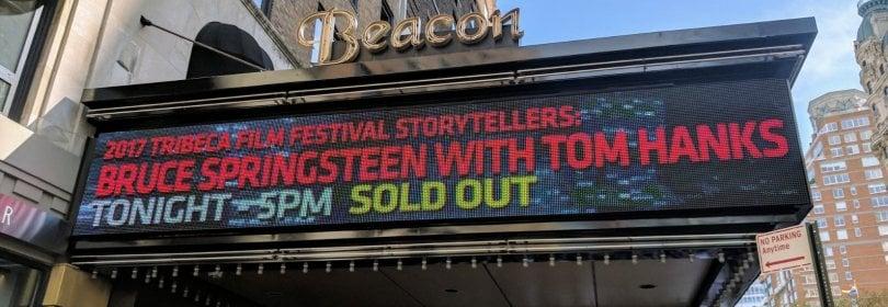 """Springsteen e Tom Hanks, incontro al Tribeca: """"Il potere delle storie? Salvarti la vita"""""""