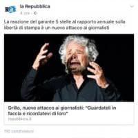 Repubblica e quel commento offensivo in un post su Grillo