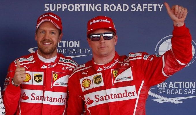 """F1, Gp Russia, Vettel: """"Bello guidare questa macchina"""". Raikkonen: """"Niente male questa prima fila"""""""