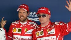 Ferrari in prima fila fotoPole Vettel, Kimi 2°