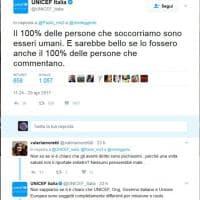 Unicef, la schermaglia su Twitter a colpi di post