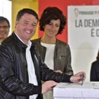 """Primarie Pd, Renzi vince nettamente: """"Al fianco del governo: nuovo inizio, niente..."""