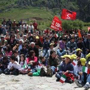 """Primo maggio, sindacati a Portella della Ginestra:  """"Rimettere in cima il lavoro e la dignità"""""""