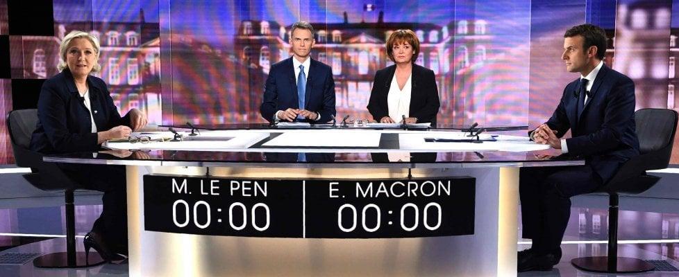 Risultati immagini per macron le pen dibattito