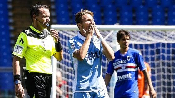 Lazio-Sampdoria 7-3, show biancoceleste e Europa matematica