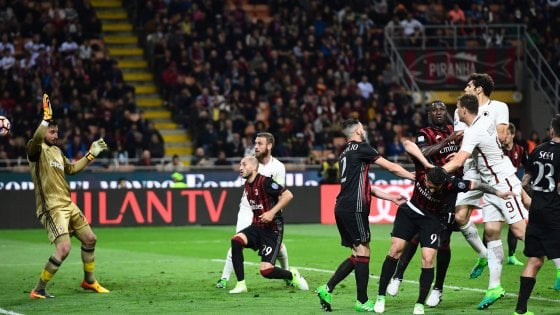 Milan-Roma 1-4: super Dzeko, i giallorossi restano al secondo posto