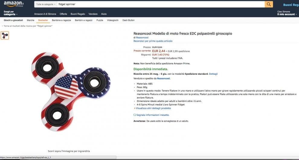 Fidget spinner, le offerte online per la trottola elettronica