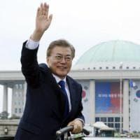 Il neopresidente Moon: