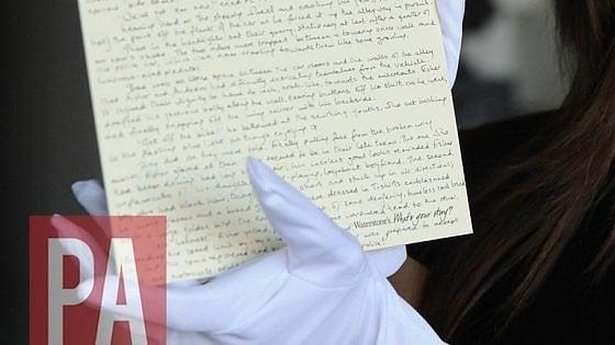 """Gb, rubato raro manoscritto sul papà di Harry Potter. J.K. Rowling: """"Per favore, non compratelo"""""""