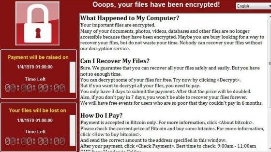 """Wannacry, hacker blocca """"per caso""""  l'attacco informatico mondiale"""