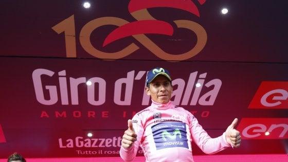 Giro d'Italia, Quintana re del Blockhaus: sua la rosa, Nibali perde 1'