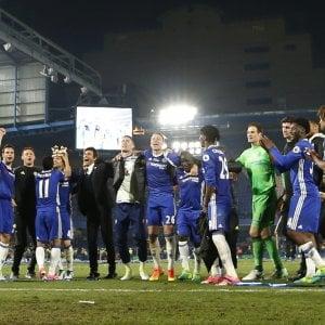 Premier League, il Chelsea e Conte festeggiano il titolo con un poker al Watford