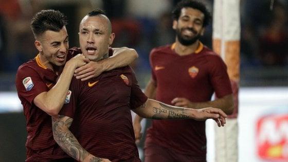 """Roma, Nainggolan: """"Bello segnare alla Juve, scudetto perso con le piccole"""""""