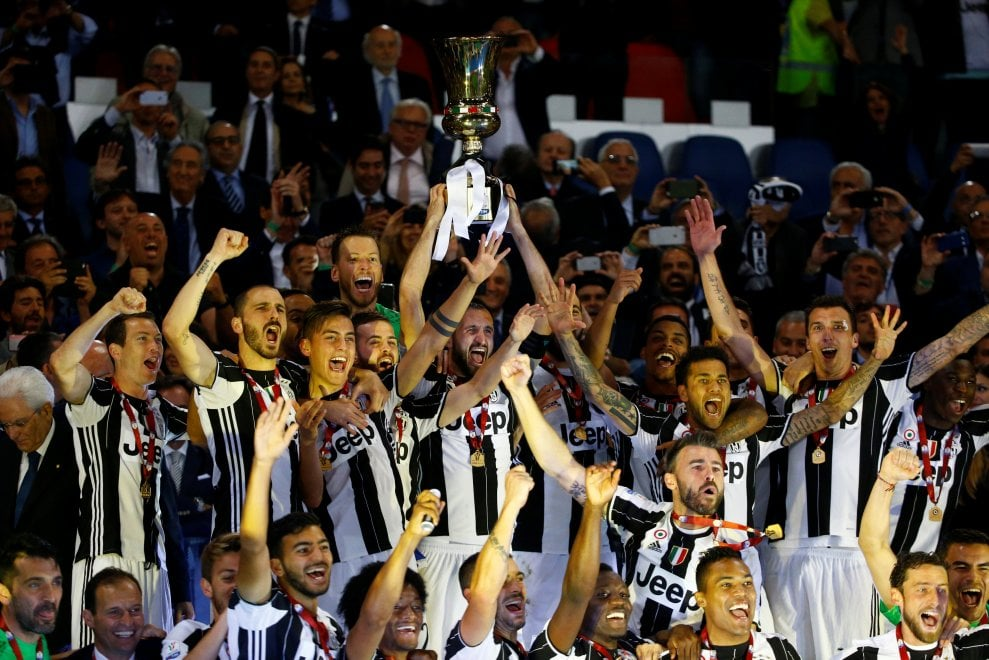 Coppa Italia alla Juventus, la festa bianconera