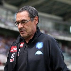 """Napoli, Sarri: """"Il secondo posto? Intanto battiamo tutti i record"""""""