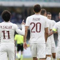 Chievo-Roma 3-5, El Shaarawy e Salah avvicinano i giallorossi al secondo