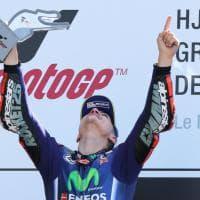MotoGp, Le Mans: trionfo Viñales, caduta-beffa per Rossi