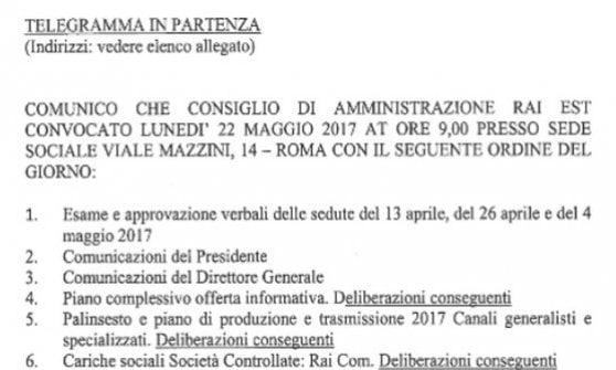Cda Rai boccia piano news di Campo Dall'Orto. Consiglieri: fiducia incrinata. Il dg va al Tesoro