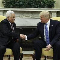 Betlemme, Trump incontra Abu Mazen: