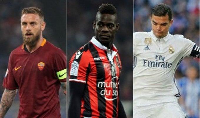 Da De Rossi a Balotelli e Pepe: caccia al colpo a costo zero