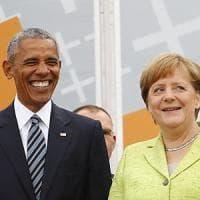 Germania, Merkel e Obama insieme per un giorno: