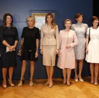 Bruxelles, Brigitte e Melania: le first lady al Museo Magritte