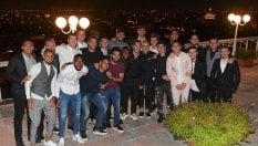La foto di gruppo alla cena offerta da Totti