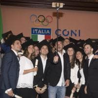 Totti riceve diploma honoris causa al Salone d'Onore del Coni