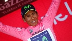 La maglia rosa Nairo Quintana