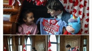 Trudeau, castello di cusciniper la piccola premier Bella